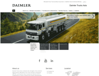 daimler-trucksasia.in screenshot