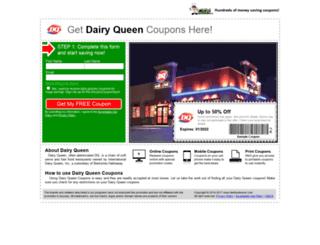 dairyqueen.fastfoodsaver.com screenshot