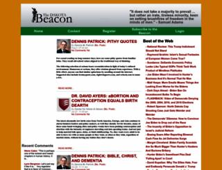 dakotabeacon.com screenshot