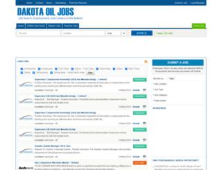 dakotaoiljobs.com screenshot
