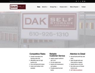dakselfstorage.com screenshot