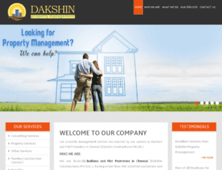 dakshinpropertymanagement.com screenshot