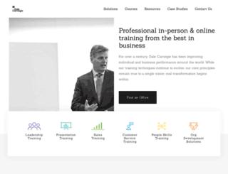 dalecarnegie.co.uk screenshot