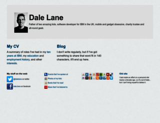 dalelane.co.uk screenshot