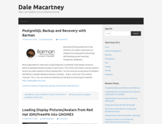 dalemacartney.com screenshot