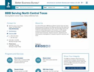 dallas.bbb.org screenshot