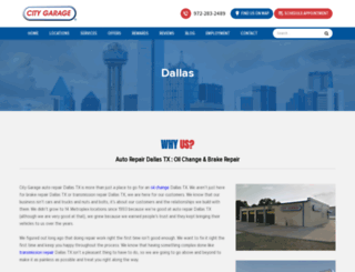 dallas.citygaragedfw.com screenshot