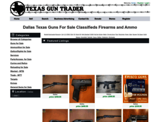 dallas.texasguntrader.com screenshot