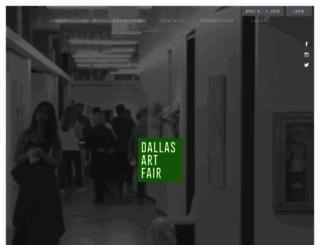 dallasartfair.com screenshot