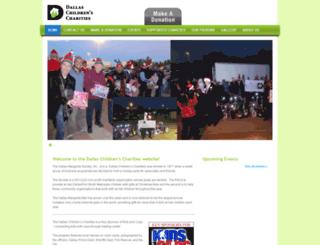 dallaschildrenscharities.org screenshot