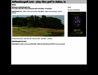 dallasdiscgolf.com screenshot