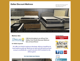 dallasdiscountmattress.com screenshot
