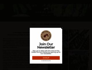 dallasfarmersmarket.org screenshot