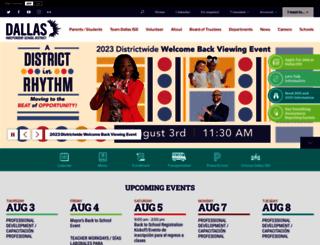 dallasisd.org screenshot
