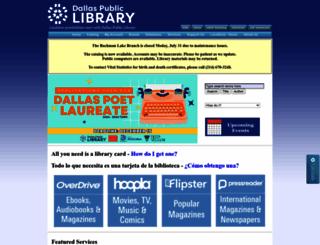 dallaslibrary.org screenshot