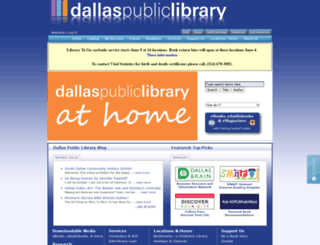 dallaslibrary2.org screenshot