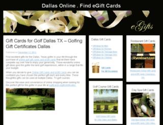 dallasonline.findegiftcards.com screenshot