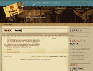 dallasrulers.org screenshot