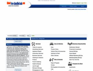 dallastx.global-free-classified-ads.com screenshot