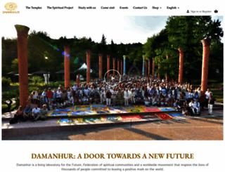 damanhur.org screenshot