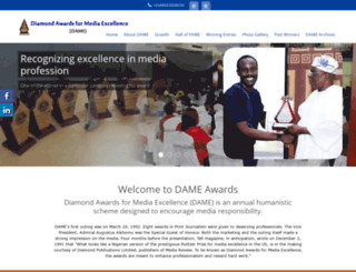 dameawards.com screenshot