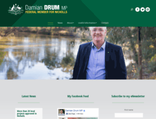 damiandrum.com.au screenshot