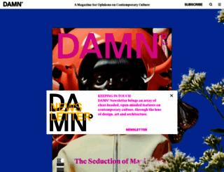damnmagazine.net screenshot