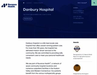 danburyhospital.org screenshot