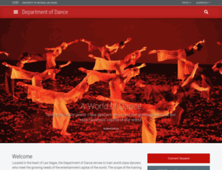 dance.unlv.edu screenshot