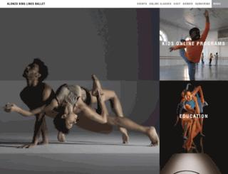 dancecenter.linesballet.org screenshot