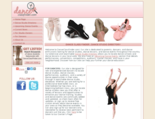 danceclassfinder.com screenshot
