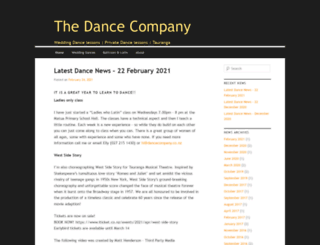 dancecompany.co.nz screenshot