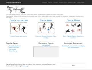 dancedirectoryplus.com screenshot