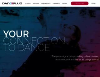 danceplug.com screenshot