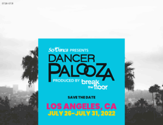 dancerpalooza.com screenshot