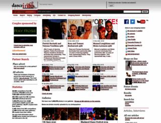 dancesportinfo.net screenshot