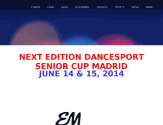 dancesportseniorcup.com screenshot