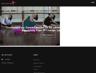 dancewitholya.com screenshot