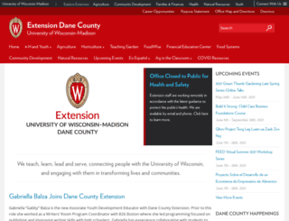 dane.uwex.edu screenshot