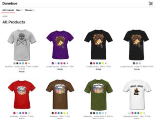 daneboe.spreadshirt.com screenshot