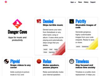 dangercove.com screenshot