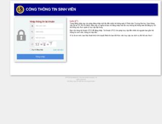 dangkyhoc.utc2.edu.vn screenshot
