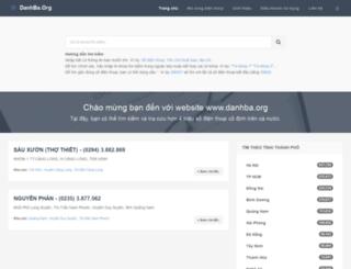 danhba.org screenshot