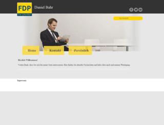 daniel-bahr.de screenshot