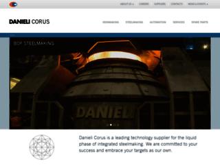 danieli-corus.com screenshot
