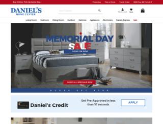 danielshomecenter.com screenshot