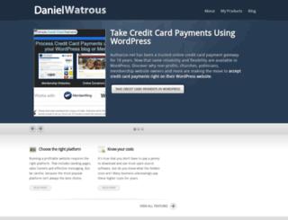 danielwatrous.com screenshot