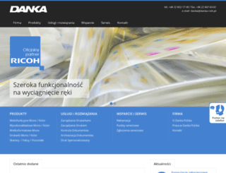 danka.com.pl screenshot