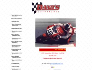 danosperformance.com screenshot