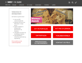 dansk.gyldendal.dk screenshot